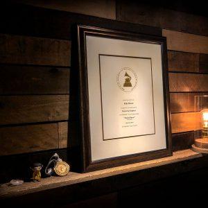 Kim Rosen Grammy Plaque