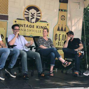 Kim on the Vintage King, Nashville Gear & Beer Fest Panel