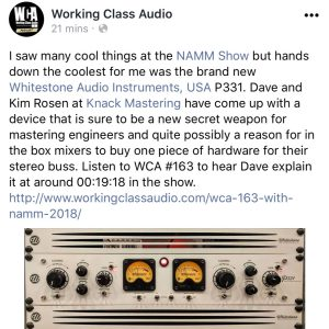 Thanks Working Class Audio!