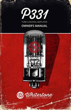 Whitestone P331 Manual Cover